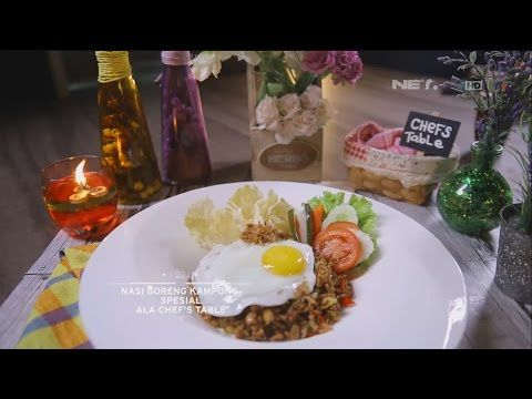 Chef S Table Nasi Goreng Kampung Spesial Youtube In 2021 Food Chef Chefs Table