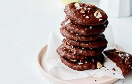 Combine dark chocolate and rich rye flour to make these fudgy, bittersweet cookies.
