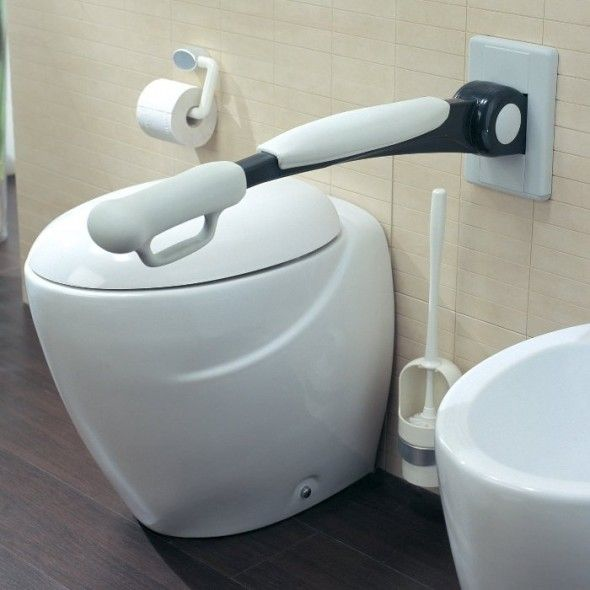 26 best grab bars images on pinterest grab bars - Handicap bars for bathroom toilet ...