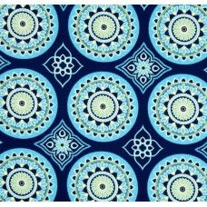 Sundial Navy Indoor Outdoor Fabric