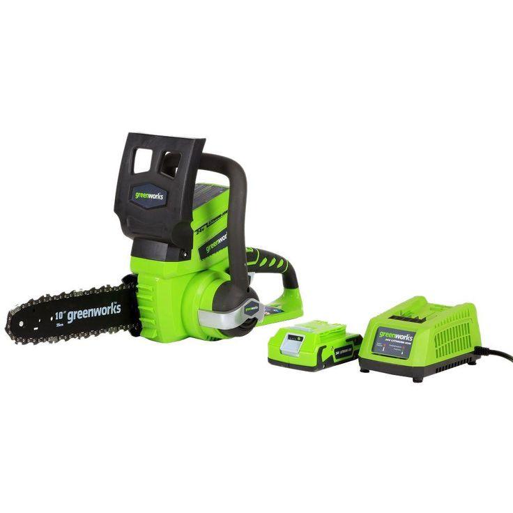 Greenworks G-24 10 in. 24-Volt Cordless Chainsaw
