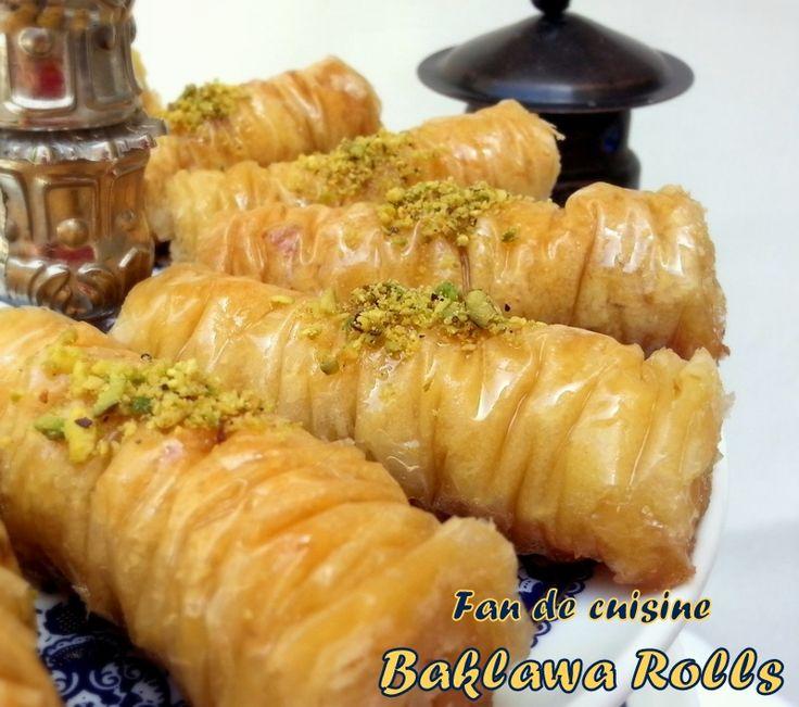 baklawa rolls , baklawa turc - fan de cuisine | interessants