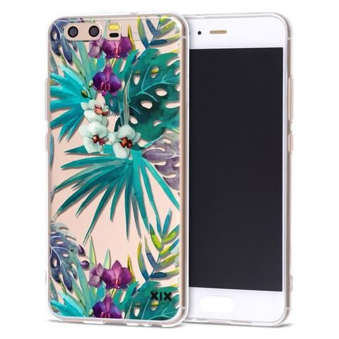 buy online 055b6 872e1 Details about For Huawei P10 Lite Case Leaves Cover Huawei P9 Lite ...