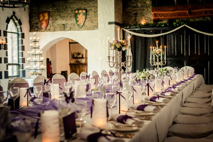 Banquet table @ Kinnitty Castle