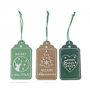 Μεταλλικό Χριστουγεννιάτικο Στολίδι Ταμπελάκι merry chrismas σε τρία σχέδια