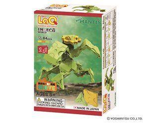 LaQ Insect World Mini Mantis- Bönsyrsa - Bygg en liten bönsyrsa av de 64 byggbitarna, en beskrivning följer med. LaQ är roligt och kreativt. Tränar finmotoriken och förmågan att läsa och följa en beskrivning. Från 5 år.