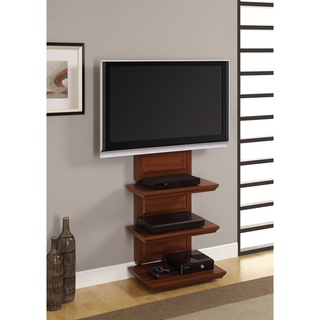 The AltraMount TV Stand and Mount is convenient, stylish and space saving. With three lightweight shelves and a sturdy metal frame, this will be a beautiful addition to your home or office.