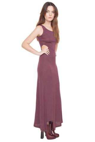 Maxi Grape Cut Out Dress