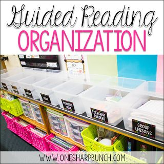 Guided Reading Organization via @onesharpbunch