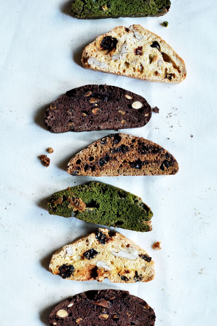 orange peel cocoa almonds/coffee-chocolate chips/figs and nuts biscotti