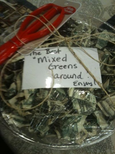One of the best ways to gift money at the bridal shower.  See more bridal shower gift ideas at www.one-stop-party-ideas.com