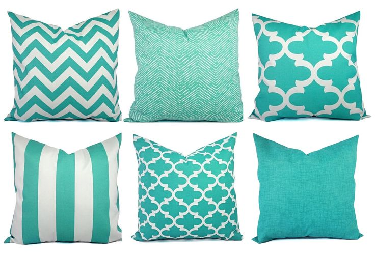 Outdoor Pillow Covers - Aqua Pillow - Teal Pillow Cover - Patio Pillow - Turquoise Pillows - Chevron Pillow - Solid Pillow - Quatrefoil by CastawayCoveDecor on Etsy https://www.etsy.com/listing/191216894/outdoor-pillow-covers-aqua-pillow-teal