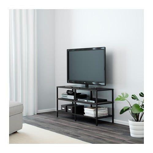 Ikea Tv Meubel Zwartbruin.Vittsjo Tv Meubel Zwartbruin Glas In 2019 Woonkamer Tv Meubels
