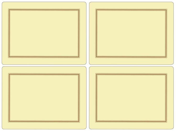 Pimpernel Classic Cream Placemats Set of 4