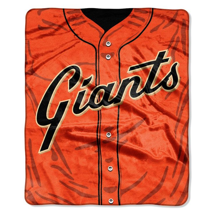San Francisco Giants 50x60 Royal Plush Raschel Throw Blanket - Jersey Design