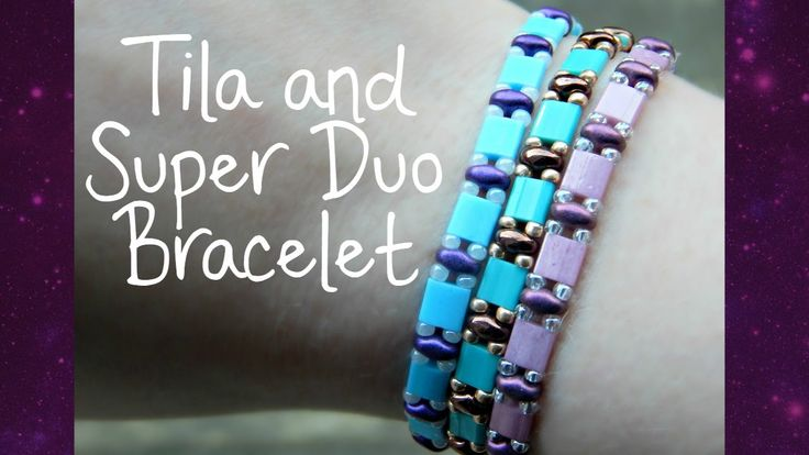 DIY Tila and Super Duo Bead Elastic Bracelet fromThe Corner of Craft.  This one looks fast and easy  ~ Seed Bead Tutorials