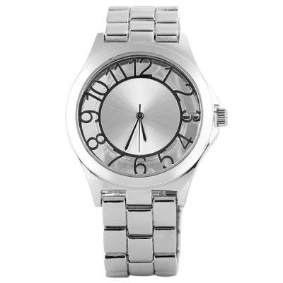 MK Male Quartz Watch with Arabic Numerals Round Dial and Stainless Steel Watch Band #CLICK! #clothing, #shoes, #jewelry, #women, #men, #hats