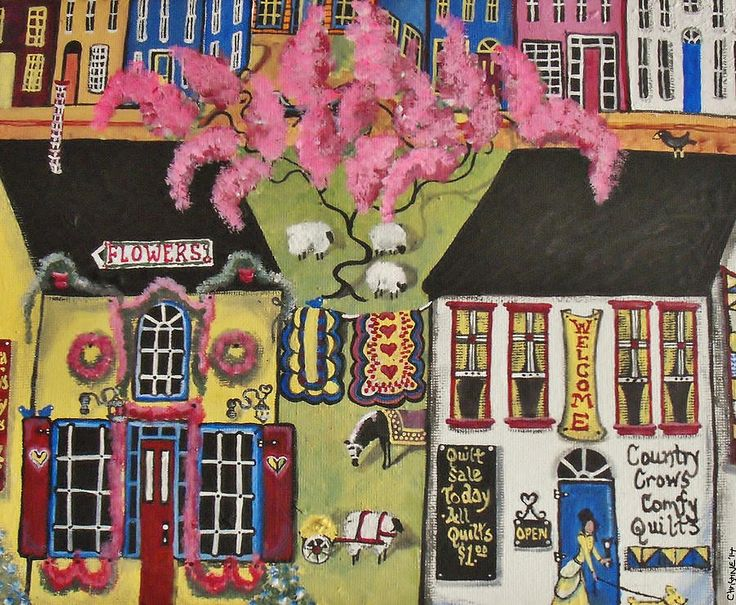 Folk Art Painting Painting - Flora Fancys Fancy Flowers by Christine Janeway