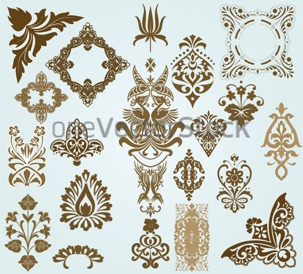 antique pattern vintage rococo baroque retro art deco ornament abstract arabesque. Black Bedroom Furniture Sets. Home Design Ideas