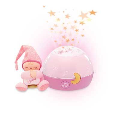 Chicco welterusten roze ster projector met muziek  Welterusten sterretjes is een roze projector die een rustgevende sfeer creëert in de kinderkamer. De betovering van de geprojecteerde sterretjes en de ontspannende achtergrondmuziek zorgen ervoor dat je baby rustig in slaap valt.  EUR 26.99  Meer informatie