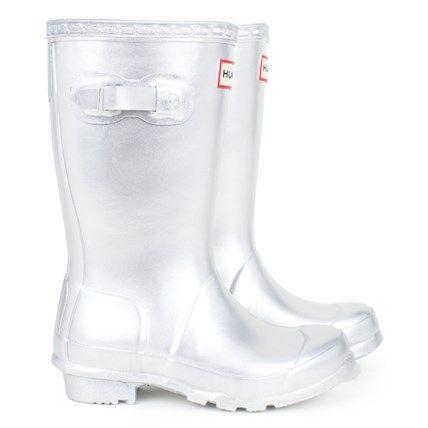 Original Silver Wellington Boots