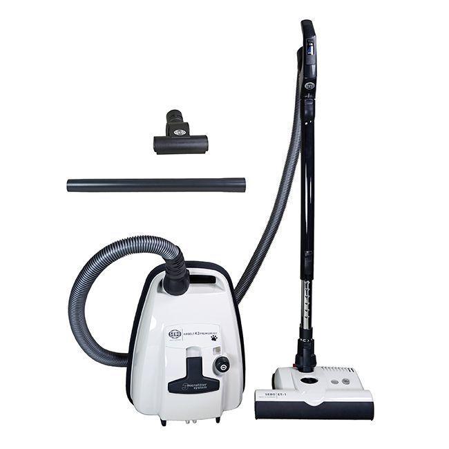 Sebo K3 PET Edition Airbelt Canister Vacuum Cleaner - White