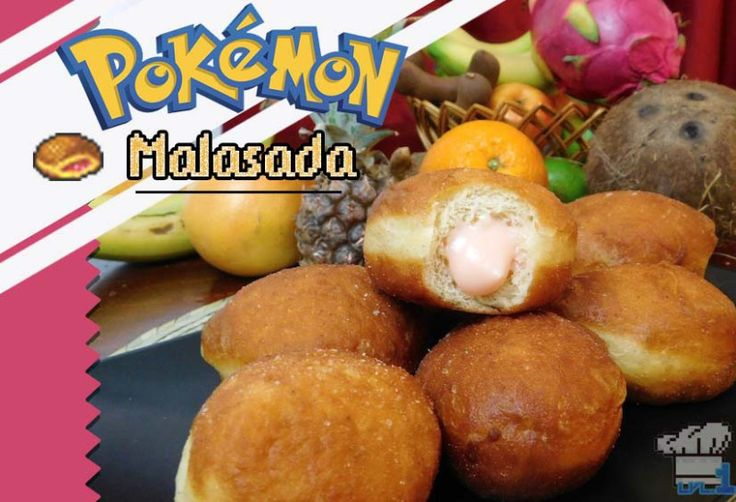 Learn how to make Pokemon Big Malasadas from Lvl.1 Chef! Inspired by Portuguese fried doughnuts, filled with a pink vanilla pastry cream. Super easy and tasty video game food recipes. http://www.level1chef.com/pokemon-big-malasada/ #pokemon #videogamefood #videogames #malasada #recipe #lvl1chef #doughnuts
