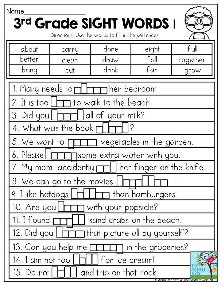 Summer Review Packets! | Sight words, Third grade ...