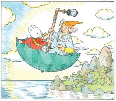 John Harrold's Rupert the Bear Illustration. How I love Rupert the Bear.