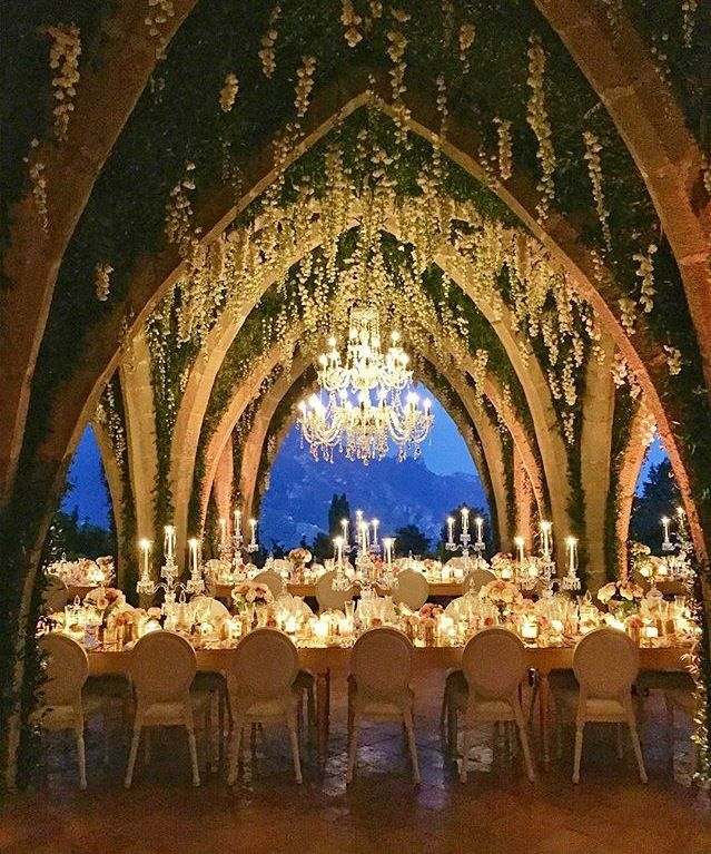 Wedding reception ~ Villa Cimbrone, Amalfi Coast