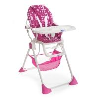 Chaise haute rose Chicco Pocket Lunch Miss Pink