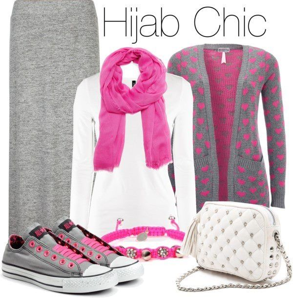 #hijab chic #hijab outfit I love how casual this is definitely something I would like to wear