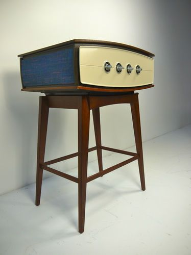 Mid century Modern PYE Garrard stereo radio turntable Eames KLH Danish Braun