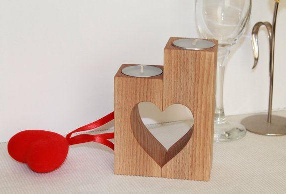 Día de la madre Natural té luz Portavelas de madera, regalo de boda, regalo de día de San Valentín, decoración casera, regalo para ella, regalos para él