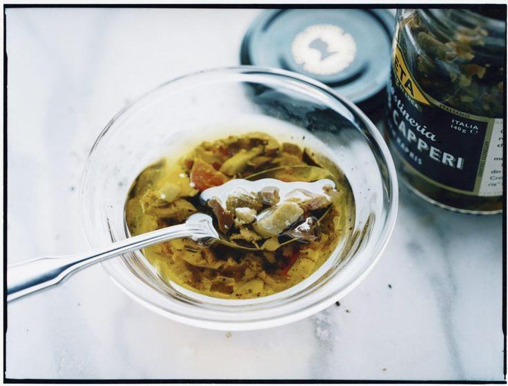 Recept från Zeta: Vinägrett med oliv och kapris