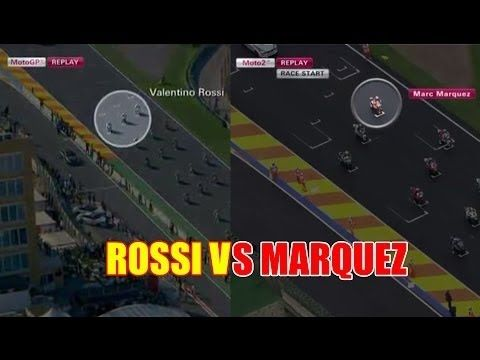 V.Rossi VS Marquez Start Dari Belakang, Lebih Hebat Mana? | MotoGP Valen...