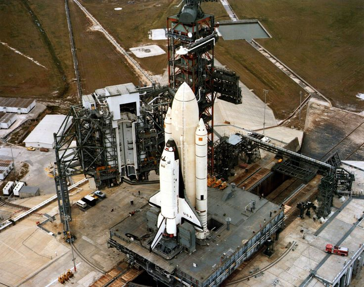 On April 12, 1981 STS-1 launched from Launch Complex 39A. Thus marking the beginning of the Space Shuttle Program #space #shuttle #retro