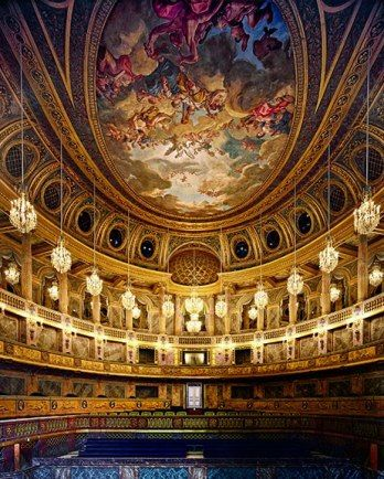 The Royal Opera House at Versailles, France. Built for the marriage of Le Dauphin, later Louis XVI with Marie-Antoinette, archduchess of Austria.