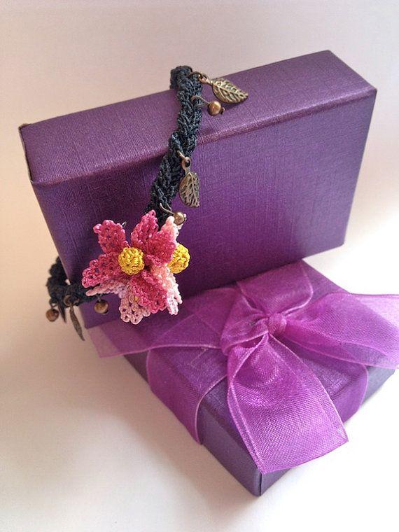 Sring Flower Turkish Needle Lace Wristband on Etsy