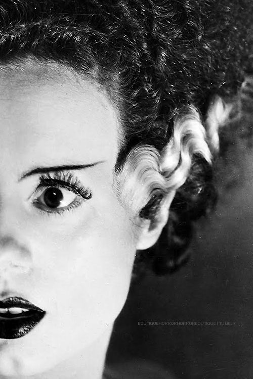 Elsa Lanchester l Bride of Frankenstein (1935)  Inspiration for Disney's Evil Queen in Snow White and her descent into her laboratory to create the poison apple.