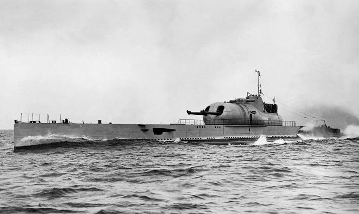"French submarine Surcouf. Was aslo forcibly boarded during operation Catapult. (Dead Eagles) She was the largest submarine ever built until surpassed by the first Japanese I-400-class submarine in 1943. Her short wartime career was marked with controversy and conspiracy theories. She was classified as an ""undersea cruiser"" by sources of her time."