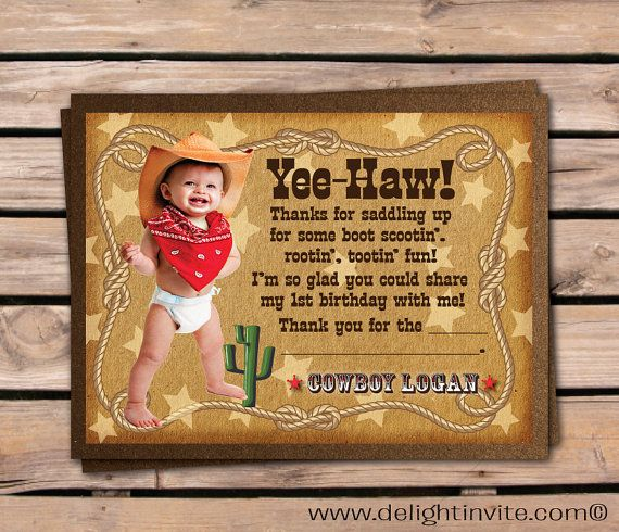 11 best cowboy and cowgirl invitations images on pinterest cowgirl cowboy thank you cards cowboy birthday thank you cards cowboy theme birthday party invitations cowboy boy theme filmwisefo