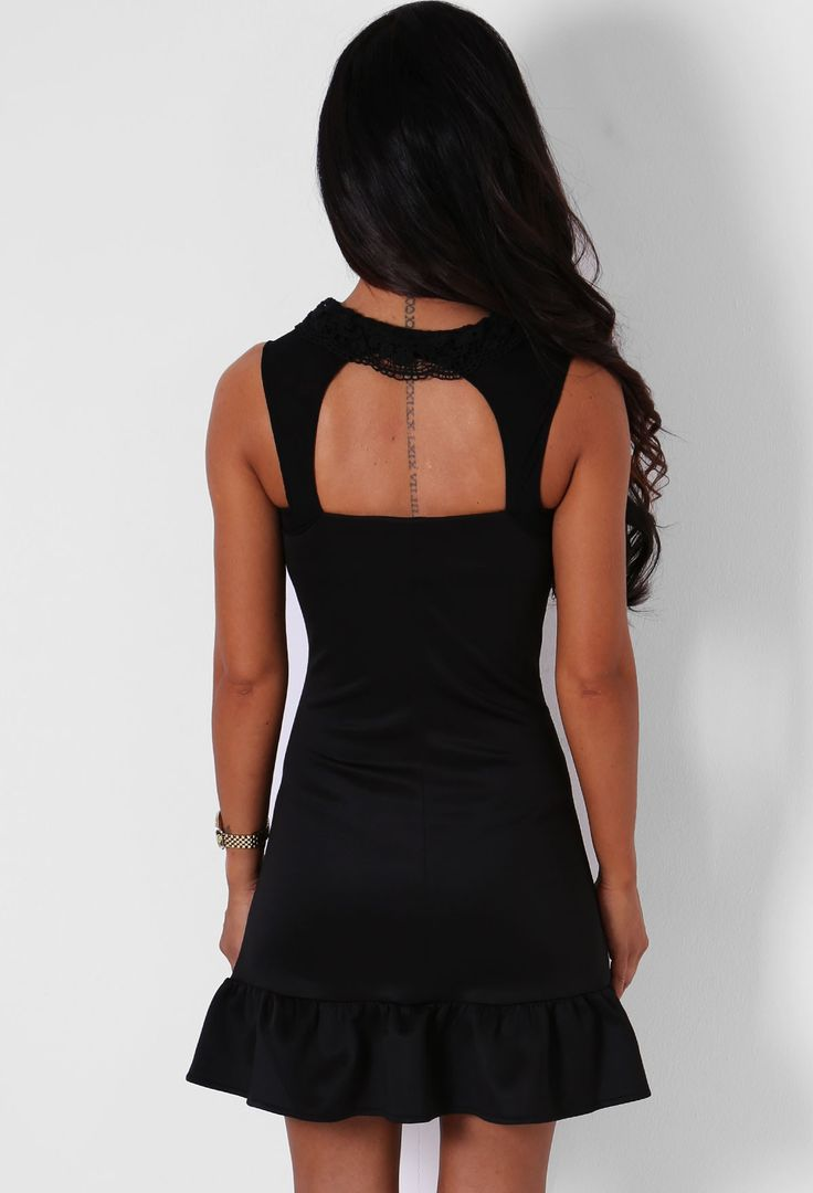 Nastasya Black Ribbon Tie Mini Dress | Pink Boutique
