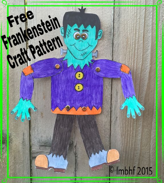 free printable craft ideas frankenstien craft for free printable 4514