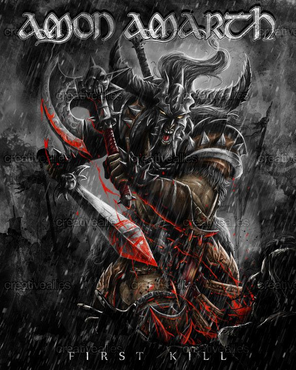 Amon Amarth artwork for First Kill