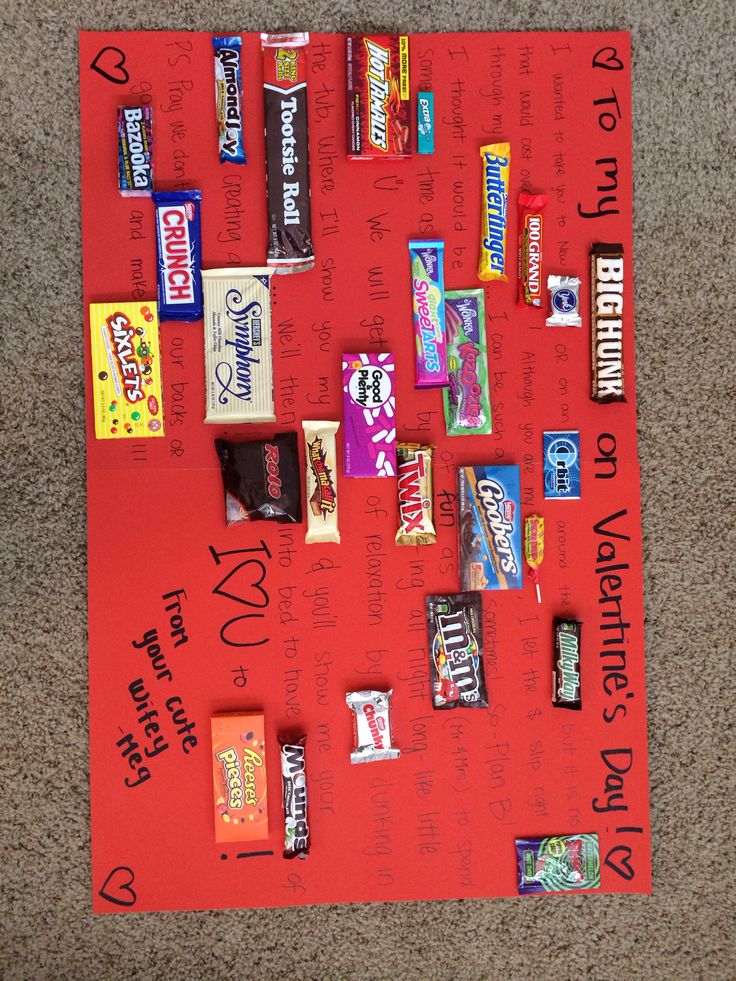 Candy poster for my husband valentines day gift