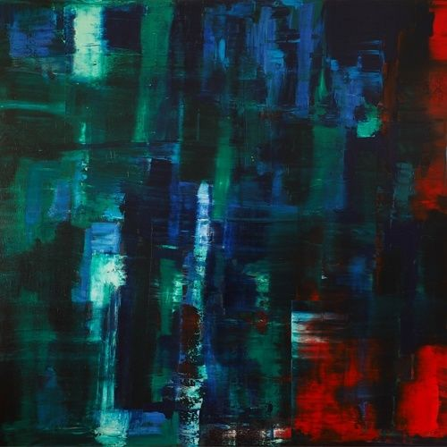 Reflection n°3: Green, Blue on Red – 2015