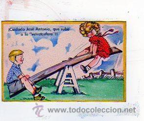 MARI PEPA. MARIA CLARET SERIE LL. Nº 9. CUIDADO JOSE ANTONIO, QUE SUBO A LA ESTRATOSFERA... (Postales - Niños)
