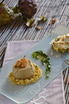 La Cucina di Stagione: Budino di carciofi su sbrisolona salata e insalati...