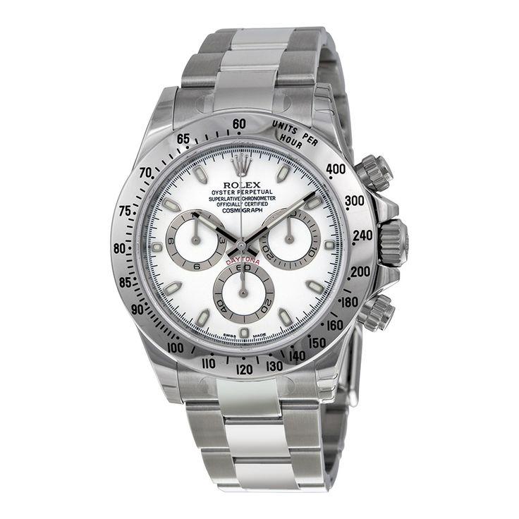 Rolex Cosmograph Daytona White Index Dial Oyster Bracelet Men's Watch 116520WSO - Cosmograph Daytona - Rolex - Shop Watches by Brand - Jomashop